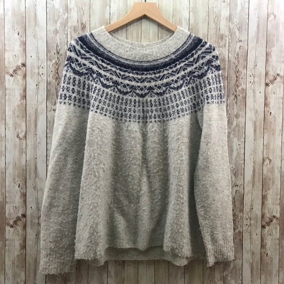 Joie Sweaters - Joie Fair Isle Sweater Wool/Alpaca Blend